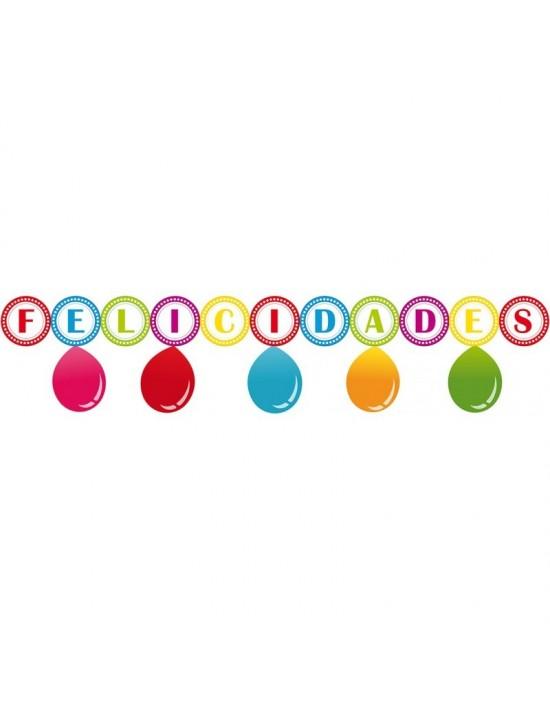 Guirnalda con globos felicidades Invcas Guirnaldas