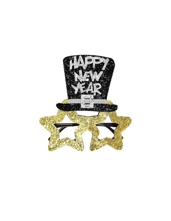 Gafas purpurina happy new year Widmann Cotillón