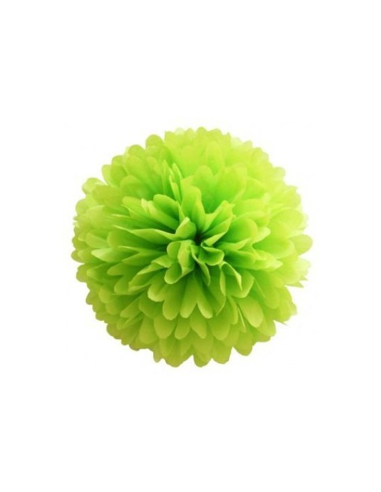 Colgante decorativo pompón 20 cm verde As De Trebol Guirnaldas