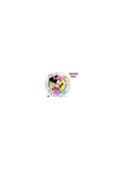 Globo bubble qualatex transparente r22 (56 cm) minnie Qualatex Globos Bubble Licencia