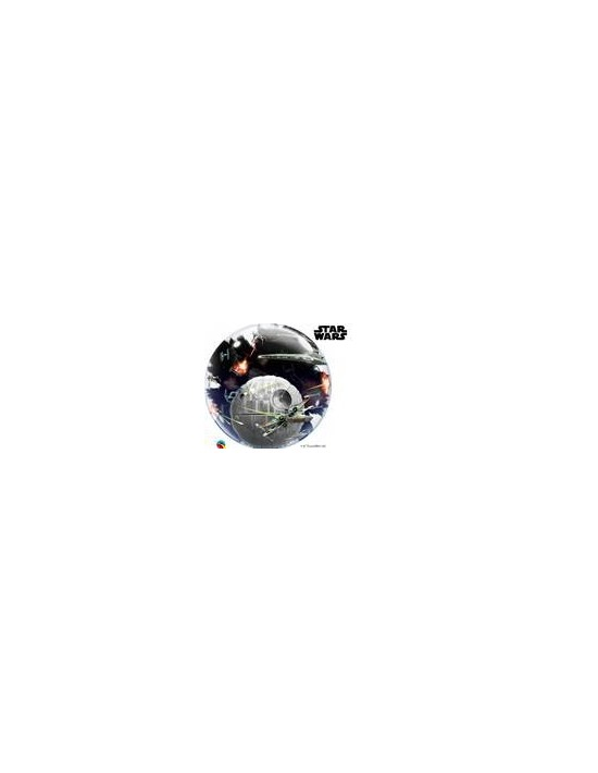 Globo bubble doble qualatex transparente r24 (61 cm) star wars Qualatex Globos Bubble Doble