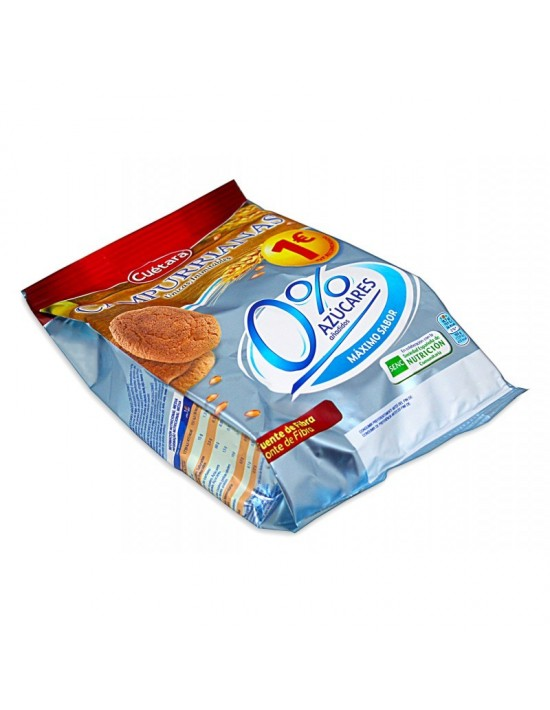 Galletas campurrianas mini 0% azúcar añadido bolsa 150 g Cuétara Galletas