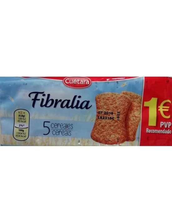 Galletas cuétara fibralia 5 cereales 167 g Cuétara Galletas