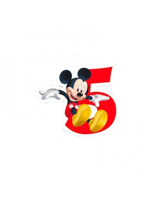 Vela mickey mouse nº 5 Invcas Velas