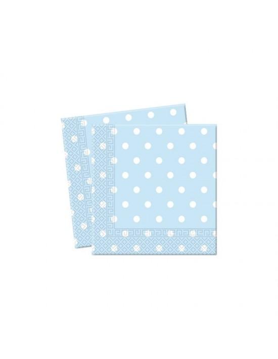 Bolsa 20 servilletas topitos azul y blanco Invcas Vajillas