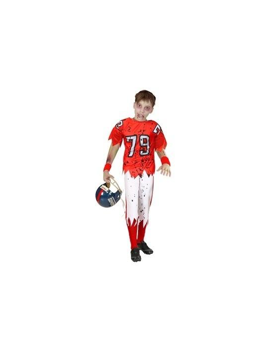 Disfraz jugador de futbol americano zombie talla 11-13 años Widmann Disfraz Infantil