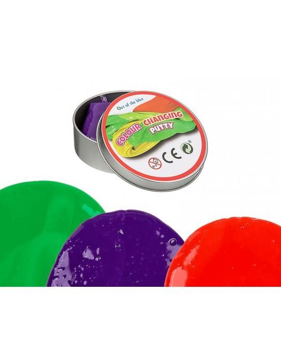 Plastilina cambia de color en lata Genérico Plastilina y otras manualidades