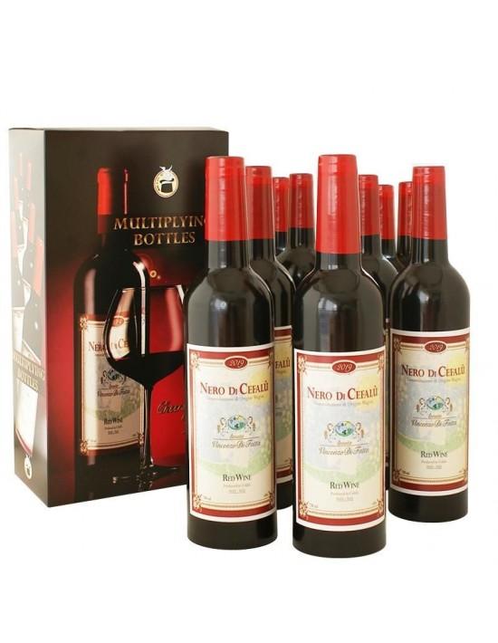 Multiplicación de 9 botellas de vino  Medianas