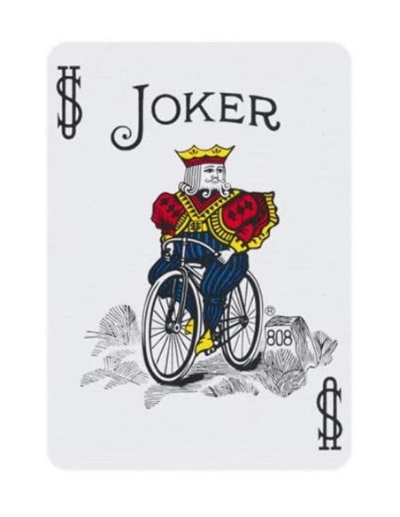 Baraja bicycle 52 cartas iguales dorso rojo joker color  Cartomagia