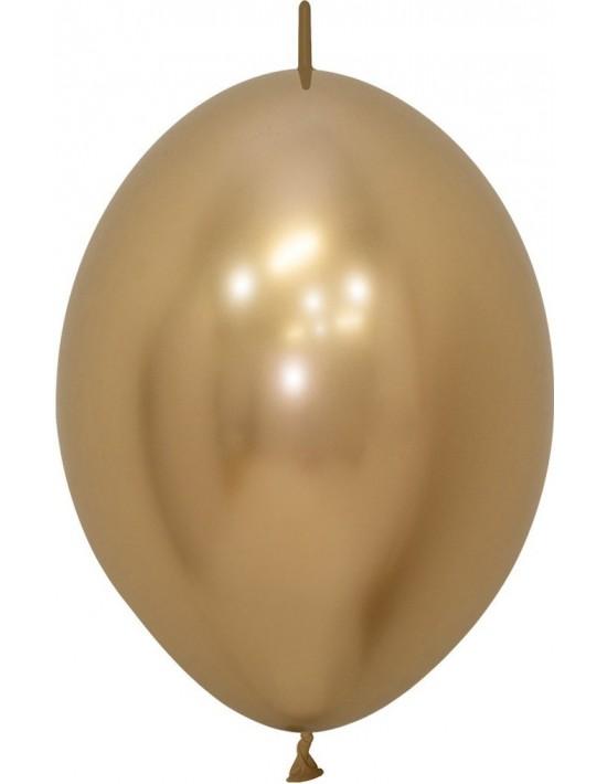 Bolsa de 25 globos sempertex r12 de 30 cm link-o-loon color reflex dorado (970) Sempertex Globos Redondos