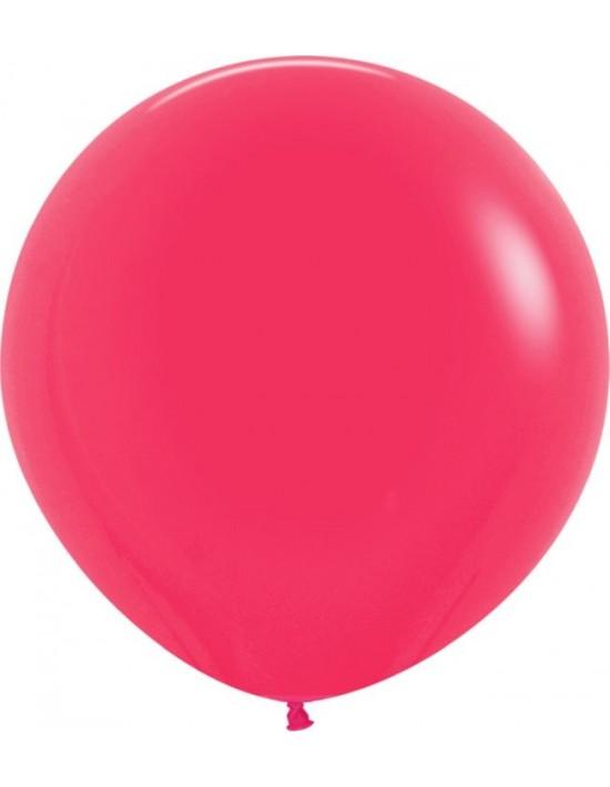 Bolsa de 10 globos sempertex r24 60cm color fashion sólido frambuesa (014) Sempertex Globos Redondos