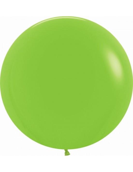 Bolsa de 10 globos sempertex r24 60cm color fashion sólido verde lima (031) Sempertex Globos Redondos