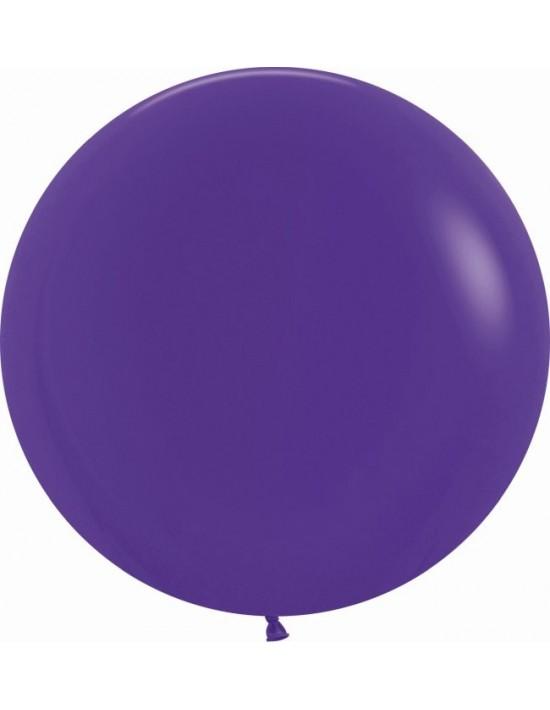 Bolsa de 10 globos sempertex r24 60cm color fashion sólido violeta (051) Sempertex Globos Redondos