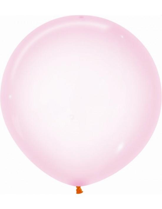 Bolsa de 10 globos sempertex r24 60cm color cristal pastel rosado (309) Sempertex Globos Redondos
