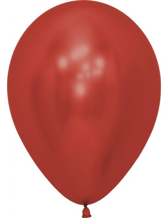 Bolsa de 50 globos sempertex r12 30cm color reflex cristal rojo (915) Sempertex Globos Redondos